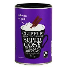 CLIPPER, Super Cosy Drinking Chocolate Fairtrade, 250g VEGAN
