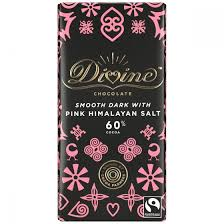 DIVINE Dark Chocolate with PINK HIMALAYAN SALT 60% 90g