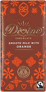 DIVINE MILK Chocolate with TANGY ORANGE 90g