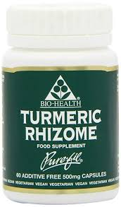 TURMERIC  500mg Powdered rhizome 60S Purefil