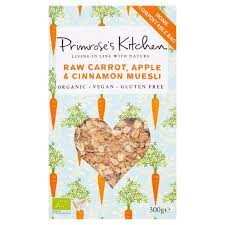 Primroses Kitchen Raw Carrot Apple Cinnamon Muesli 300g