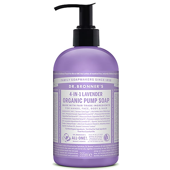 Dr Bronner 4 in 1 Shikakai Lavender Soap 355ml Hands Face Body Hair