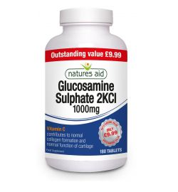 Natures Aid 1000mg Glucosamine 90 tablets with Vitamin C