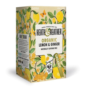 Heath & Heather Organic Lemon & Ginger Tea 20 Bags