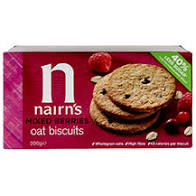 NAIRNS OATCAKES, Mixed Berries Wheat Free Biscuits, 200g VEGAN