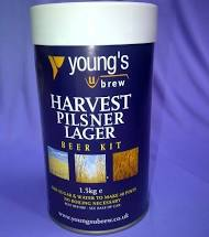 Youngs Harvest Pilsner 40 pint 1.5kg beer home brew beer making kit