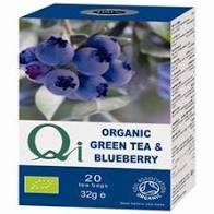 Qi Organic Green Tea & Blueberry 20 tea bags 32g