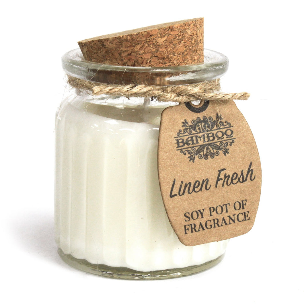 Linen Fresh Soy Pot of Fragrance candle
