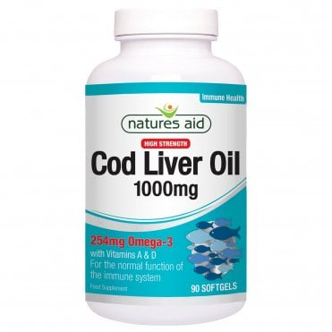Natures Aid Cod Liver Oil (High Strength) - 1000mg  Better Than Half Price! 180 Caps