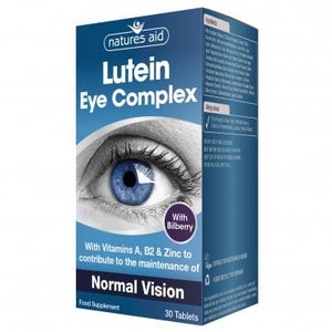 Natures Aid Lutein Eye Complex 30s with 10mg Lutein, Bilberry and Alpha Lipoic Acid 30 Tablets