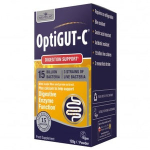 Natures Aid OptiGUT C (NutriGUT C) 120g powder 15 billion + FOS + Magnesium