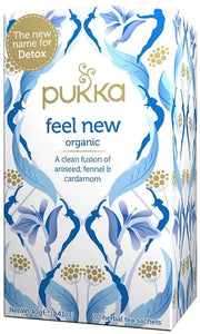 Pukka Feel New (formally Detox) Herbal Tea with Organic Aniseed, Fennel & Cardamom 20 bags