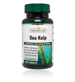 Natures Aid Sea Kelp - 187mg (providing 150ug Iodine)180Tabs