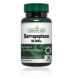 Natures Aid Serrapeptase 80,000iu (Enteric Coating) 30Tabs