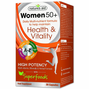 Natures Aid Women 50+ Multi Vitamin & Mineral 30 capsules with superfoods