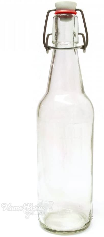 Clear Swing Flip top grolsch style glass pressure bottle 500ML
