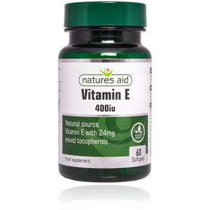 Natures Aid Vitamin E 400iu Natural Form 60 Capsules