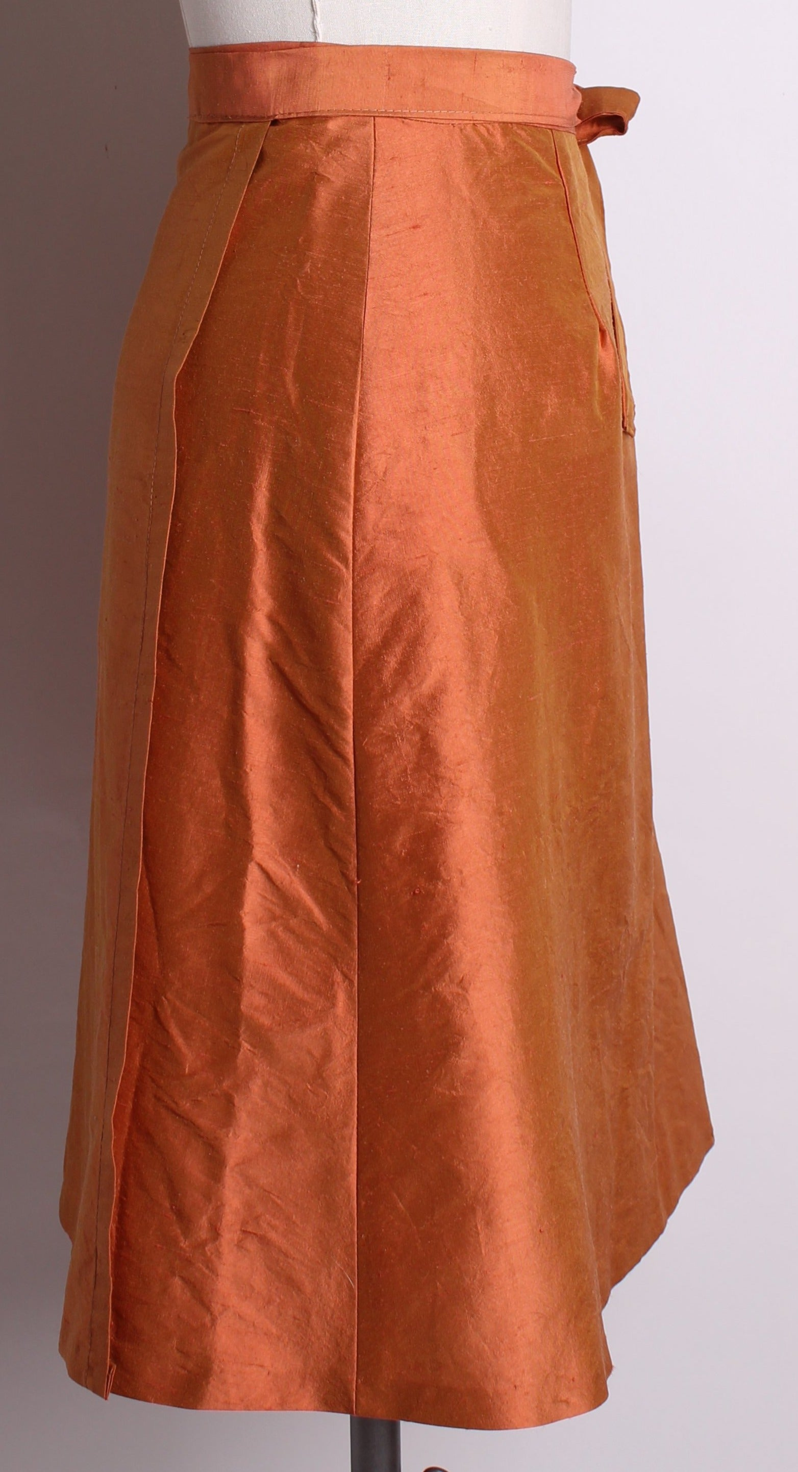 Handmade Silk Wrap Skirt