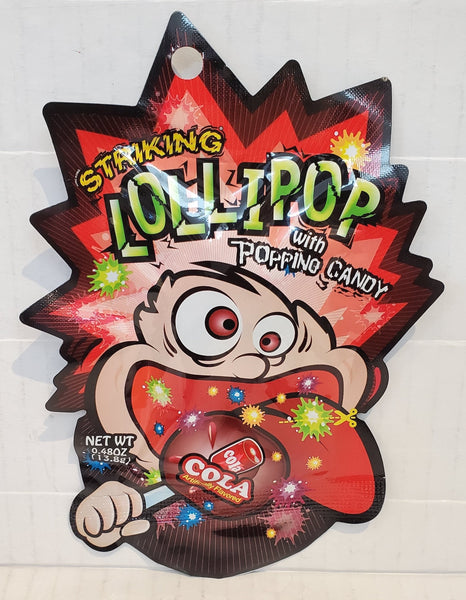 Striking popping lollipop candy 爆炸跳跳棒棒糖