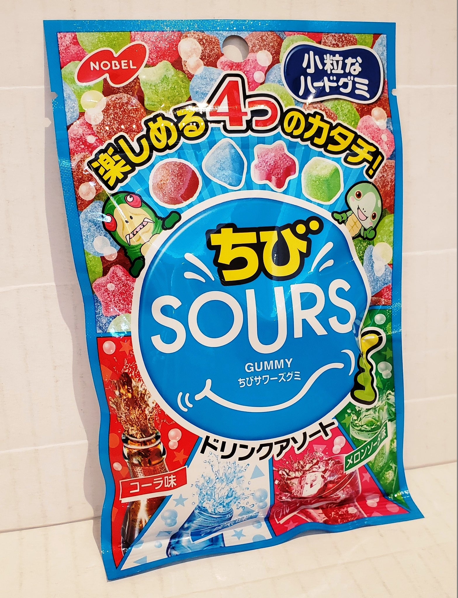 Nobel sours mix fruits soda gummy 樂寶酸砂什果汽水軟糖