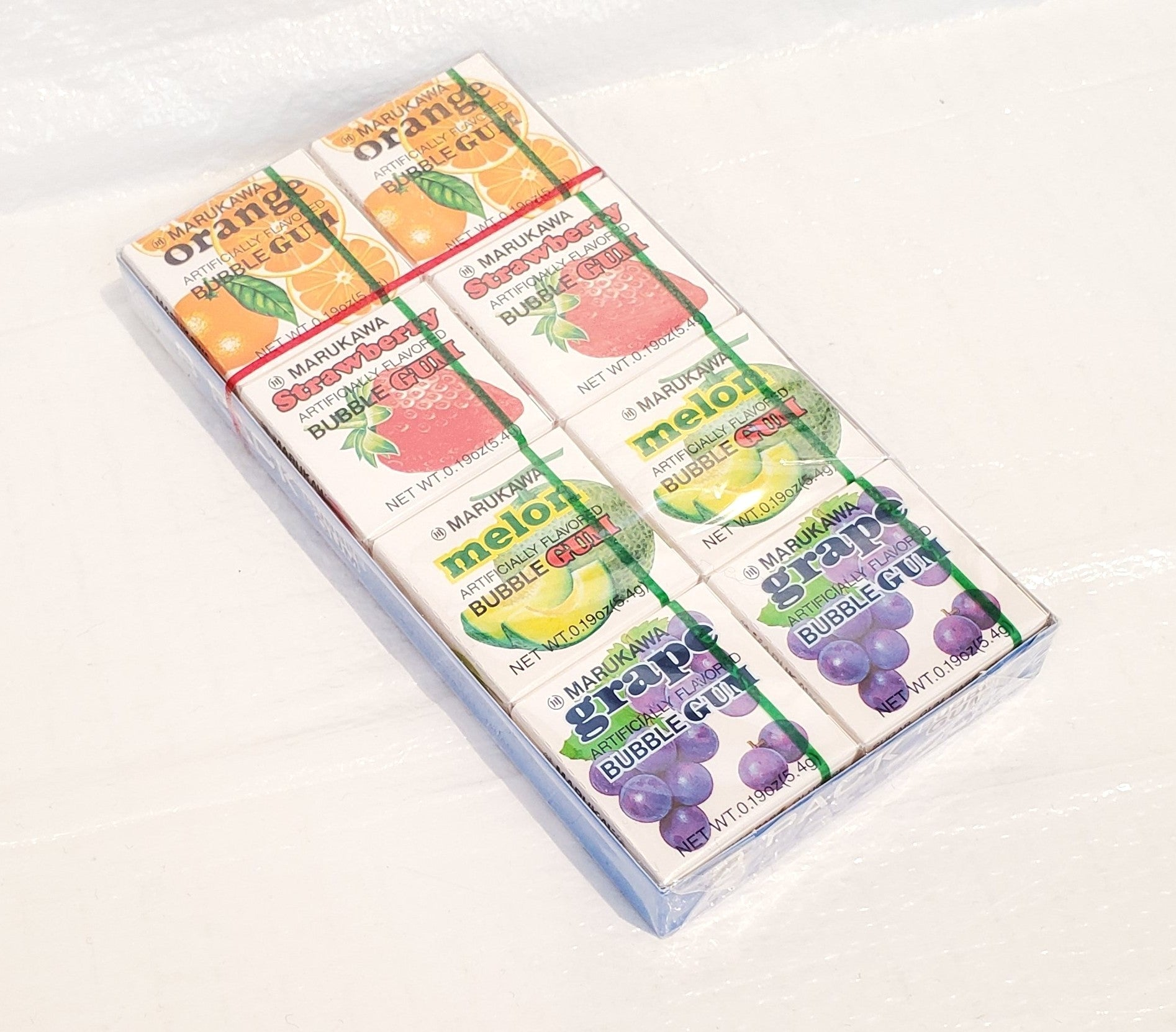 Marukawa 8 packed assorted fruits bubble gum 丸川水果味泡泡糖