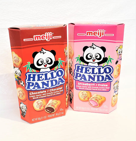 Meiji hello panda choco filled cookies 明治小熊貓朱古力夾心餅