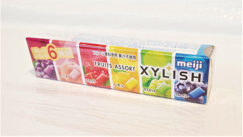 Meiji xylish assorted fruits sugarless chewing gum 明治護齒低糖水果口香糖