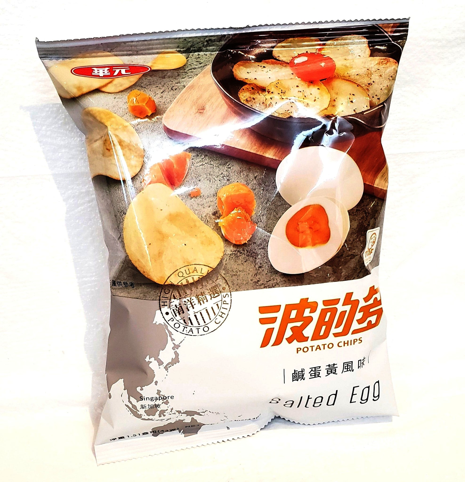 Taiwan salted egg potato chips 台灣波的多咸蛋黃薯片