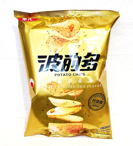 Taiwan seaweed salted egg potato chips 台灣波的多紫菜咸蛋黃薯片