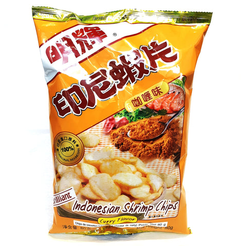 *Brilliant Indonesian curry shrimp chips 印尼明輝咖哩蝦片