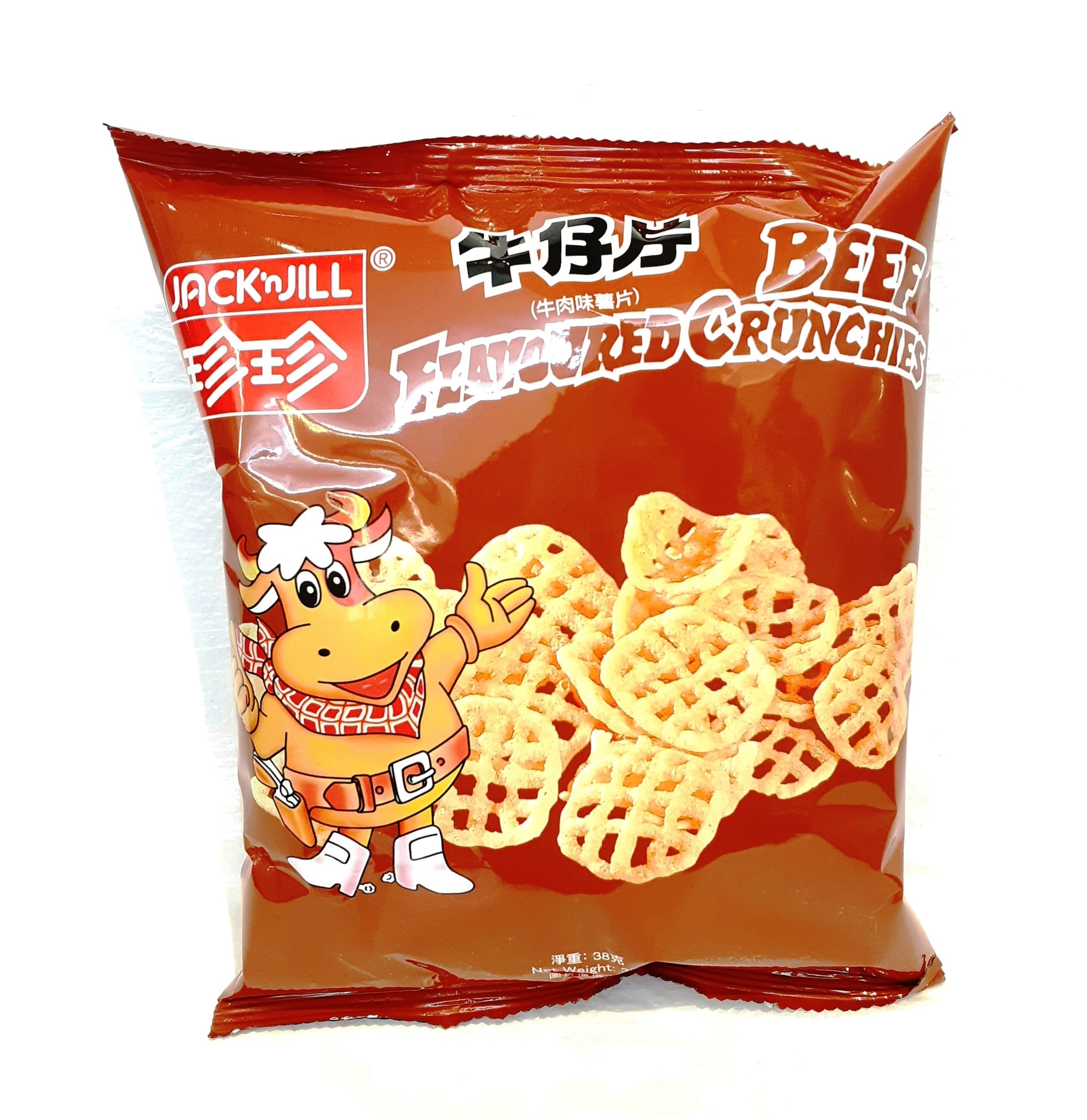 Jack'n Jill Beef Flavoured Crunchies 珍珍牛仔片