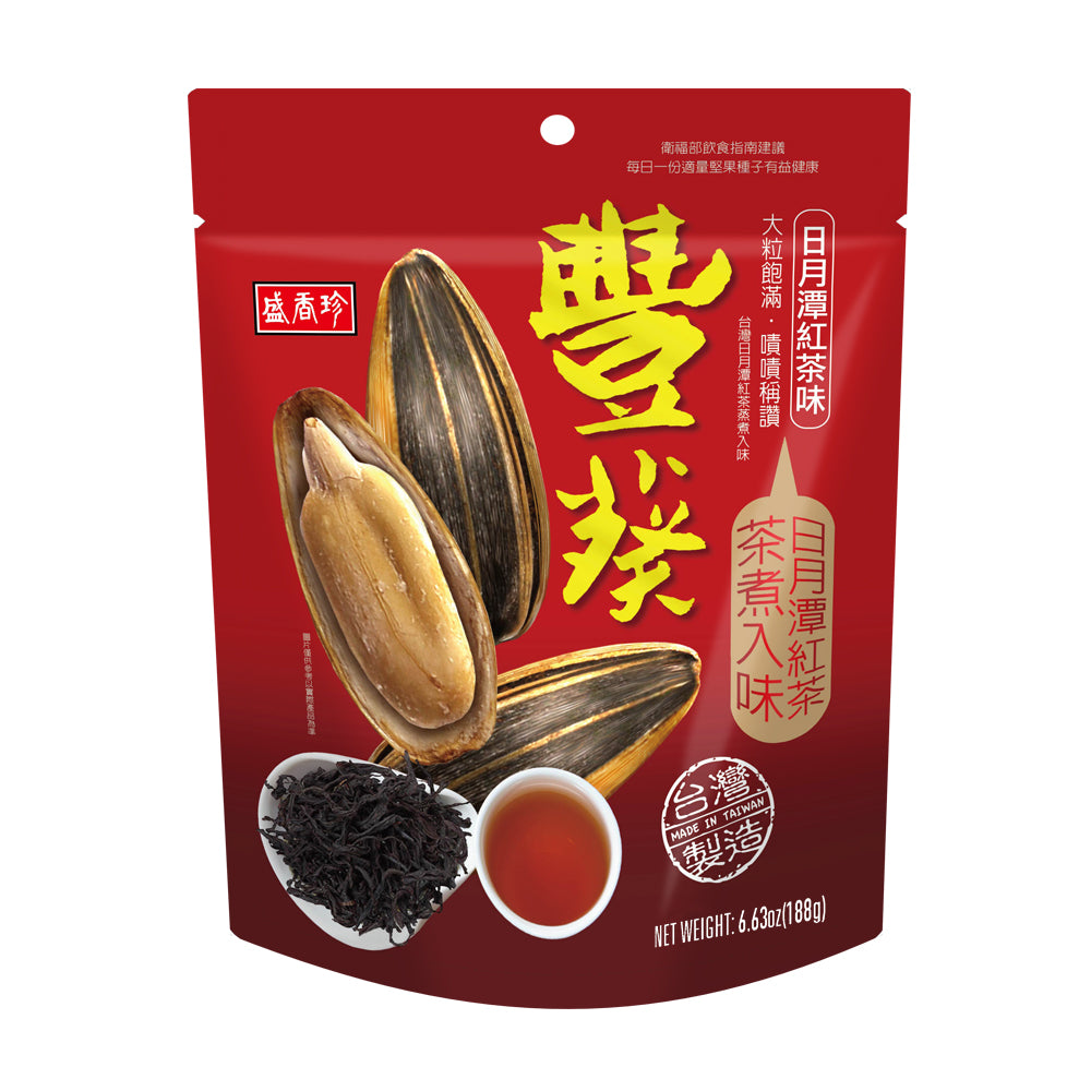 SHJ Sun Moon Lake black tea sunflower seeds 盛香珍日月潭紅茶豐葵香瓜子