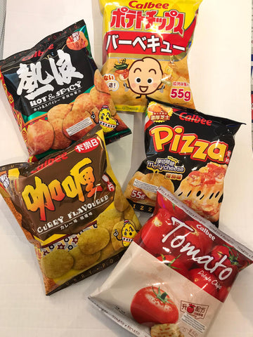 Calbee potato chips 卡樂B薯片