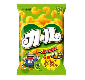 Meiji karl cheese corn puff snacks 明治卡路芝士粟米條