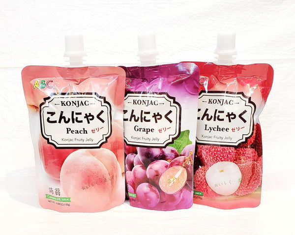Konjac konnyaku fruit juice jelly 水果纖維蒟蒻