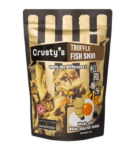*Crusty's Singapore truffle salted eggs fish skin 新加坡黒松露咸蛋魚皮