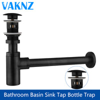 Luxury Bottle Trap Brass Round Siphon With Pop Up Drain