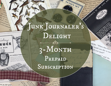 Load image into Gallery viewer, Junk journalers delight 3 month subscription box
