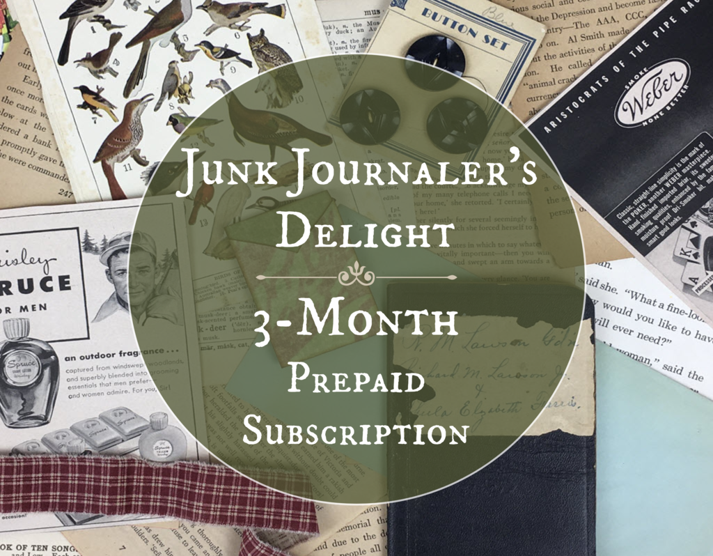 Junk journalers delight 3 month subscription box
