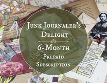 Load image into Gallery viewer, junk journal supplies subscription box 6 month