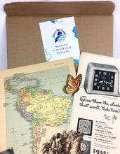 Load image into Gallery viewer, junk journal vintage ephemera subscription box