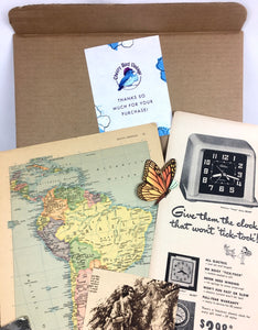 junk journal vintage ephemera subscription box