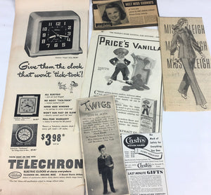 Vintage ads in vintage ephemera subscription box