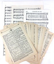 Load image into Gallery viewer, vintage book pages and sheet music