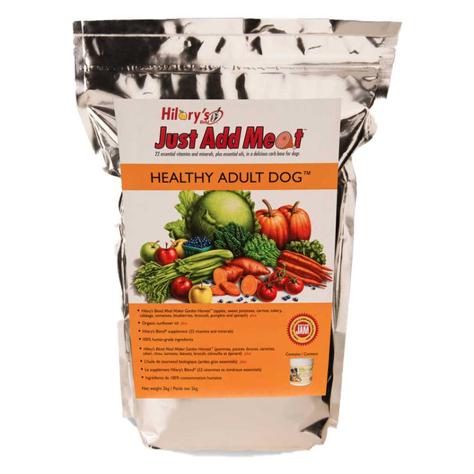 HILARY'S BLEND JUST ADD MEAT (JAM) - Healthy Adult Dog - 2kg