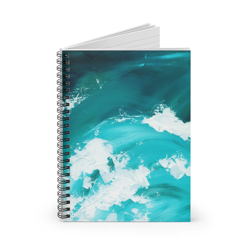 Spiral Notebook - Ruled Line - White Caps