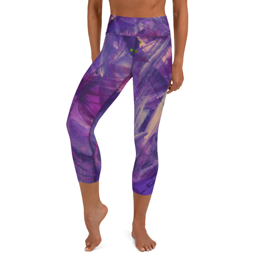 Capri Leggings - Violet Energy