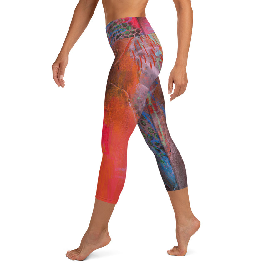 Capri Leggings — Coral