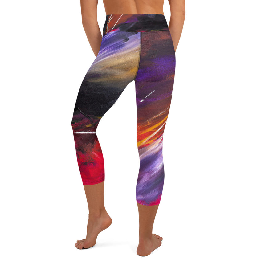 Capri Leggings - Electric
