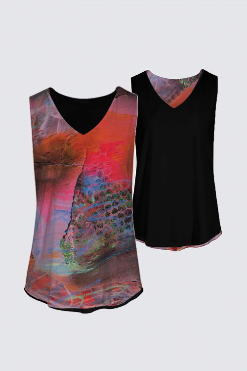 Reversible Sleeveless - Coral